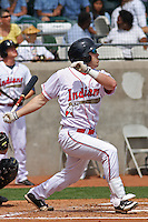Jason Kipnis #8 of the Kinston Indians hitting during a game against the Lynchburg Hillcats at Granger Stadium on April 28, 2010 in Kinston, NC. Photo by Robert Gurganus/Four Seam Images.