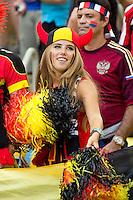 A colourful Belgium fan