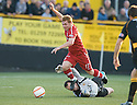 24/08/2010   Copyright  Pic : James Stewart.sct_jsp002_alloa_v_aberdeen  .:: FRASER FYVIE IS BROUGHT DOWN BY STEPHEN ROBERTSON FOR ABERDEEN'S PENALTY :: .James Stewart Photography 19 Carronlea Drive, Falkirk. FK2 8DN      Vat Reg No. 607 6932 25.Telephone      : +44 (0)1324 570291 .Mobile              : +44 (0)7721 416997.E-mail  :  jim@jspa.co.uk.If you require further information then contact Jim Stewart on any of the numbers above.........