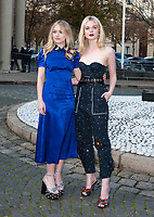 October 3 2017, PARIS FRANCE the Miu Miu<br /> Show at the Paris Fashion Week Spring Summer 2017/2018. Actresses Dakota Fanning and Elle Fanning arrive at the show.