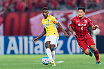 Jiangsu FC Midfielder Ramires Santos (L) fights for the ball with Shanghai FC Midfielder Cai Huikang (R) during the AFC Champions League 2017 Round of 16 match between Shanghai SIPG FC (CHN) vs Jiangsu FC (CHN) at the Shanghai Stadium on 24 May 2017 in Shanghai, China. Photo by Marcio Rodrigo Machado / Power Sport Images