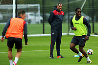Pictured: Manager Paul Clement observes his players train. Tuesday 11 July 2017<br />Re: Swansea City FC training at Fairwood training ground, UK