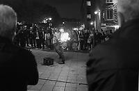 Vieux- Montreal la nuit<br /> <br /> Photo : Agence Quebec Presse.