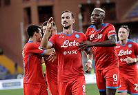 23rd September 2021; G.Ferraris Stadium, Genoa, Italy; Serie A football, Sampdoria versus Napoli : Fabian Ruiz of Napoli   celebrates after scoring for 2 - 0 in 39th minute