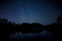 Milky Way above a lake in West Sweden, Sweden - Västsverige, Sverige