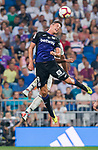 Guido Marcelo Carrillo of CD Leganes heads the ball during the La Liga 2018-19 match between Real Madrid and CD Leganes at Estadio Santiago Bernabeu on September 01 2018 in Madrid, Spain. Photo by Diego Souto / Power Sport Images