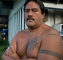 Bryan Amona at Kailua on Oahu in Hawaii.