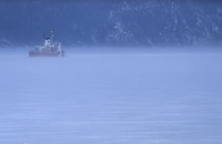 Amérique/Amérique du Nord/Canada/Quebec/Fjord du Saguenay : Brise-glace en action