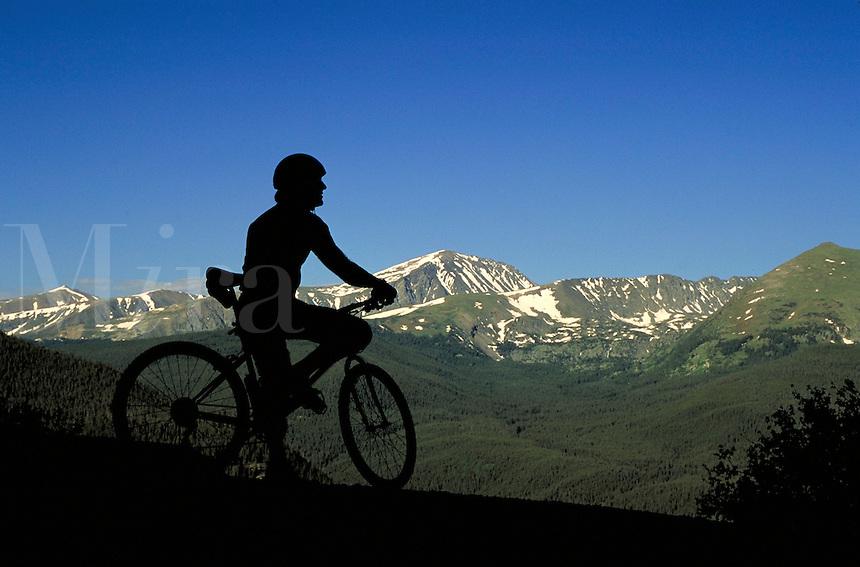 Mike Rawles (MR163) mountain biking, Summit County, CO. Mike Rawles. Summit County, Colorado.