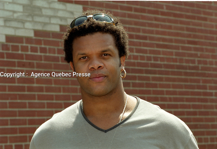 Luck Mervil, circa 2000<br /> <br /> PHOTO  :  Agence Quebec Presse