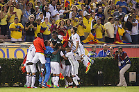 Pasadena, CA - Tuesday June 07, 2016: Colombia goal celebration during a Copa America Centenario Group A match between Colombia (COL) and Paraguay (PAR) at Rose Bowl Stadium.