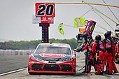 #20: Christopher Bell, Joe Gibbs Racing, Toyota Supra Rheem makes a pit stop, Sunoco