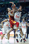 Real Madrid's Gustavo Ayon (r) and Galatasaray Odeabank Istambul's  Vladimir Micov during Euroleague, Regular Season, Round 5 match. November 3, 2016. (ALTERPHOTOS/Acero)
