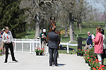 April 23, 2014: Petite Flower and Bruce Davidson Jr. during the first horse inspection at the Rolex Three Day Event in Lexington, KY at the Kentucky Horse Park.  Candice Chavez/ESW/CSM