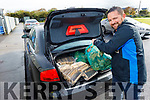 Fergal Dooley collecting his logs and wood from All Fuel Supplies (AFS) in Tralee on Thursday.
