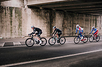 Luke Rowe (GBR/SKY) under the bridge<br /> <br /> 109th Milano-Sanremo 2018<br /> Milano > Sanremo (291km)
