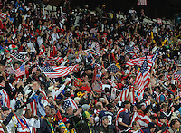 The American crowd explodes in joy and relief as the U.S. draws back level with Slovenia. The United States came from a 2-0 halftime deficit to Slovenia to earn a 2-2 draw their second match of play in Group C of the 2010 FIFA World Cup.