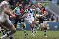 20130309 Copyright onEdition 2013©.Free for editorial use image, please credit: onEdition..Ross Chisholm of Harlequins in action during the LV= Cup semi final match between Harlequins and Bath Rugby at The Twickenham Stoop on Saturday 9th March 2013 (Photo by Rob Munro)..For press contacts contact: Sam Feasey at brandRapport on M: +44 (0)7717 757114 E: SFeasey@brand-rapport.com..If you require a higher resolution image or you have any other onEdition photographic enquiries, please contact onEdition on 0845 900 2 900 or email info@onEdition.com.This image is copyright onEdition 2013©..This image has been supplied by onEdition and must be credited onEdition. The author is asserting his full Moral rights in relation to the publication of this image. Rights for onward transmission of any image or file is not granted or implied. Changing or deleting Copyright information is illegal as specified in the Copyright, Design and Patents Act 1988. If you are in any way unsure of your right to publish this image please contact onEdition on 0845 900 2 900 or email info@onEdition.com