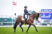 USA-Savannah Fulton rides Captain Jack during the second day of Dressage. 2019 GBR-Land Rover Burghley Horse Trials. Friday 6 September. Copyright Photo: Libby Law Photography