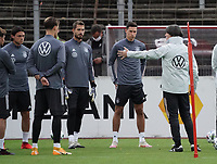Nico Schulz (Deutschland Germany), Torwart Kevin Trapp (Deutschland Germany), Julian Draxler (Deutschland, Germany) mit Bundestrainer Joachim Loew (Deutschland Germany) <br /> - 05.10.2020: Training der Deutschen Nationalmannschaft, Suedstadion Koeln<br /> DISCLAIMER: DFB regulations prohibit any use of photographs as image sequences and/or quasi-video.