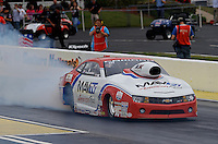 May 11, 2013; Commerce, GA, USA: NHRA pro stock driver Greg Stanfield during the Southern Nationals at Atlanta Dragway. Mandatory Credit: Mark J. Rebilas-