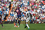 Eibar's Ruben Pena and Real Madrid's Daniel Carvajal during the match of La Liga between Real Madrid and SD Eibar at Santiago Bernabeu Stadium in Madrid. October 02, 2016. (ALTERPHOTOS/Rodrigo Jimenez)