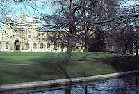 "Cambridge: St. John's College and the River Cam.  ""The Backs"". Early 16th century. Photo '82."