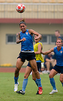 Natasha Kai. The USWNT practiced at Beijing Normal University in Beijing, China.  The team will now move to Qinhuangdao to prepare for their first two group games of the 2008 Olympics.