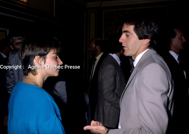 1986 File Photo of<br /> Olympic Champions<br /> Sylvie Bernier and gaetan Boucher<br /> <br /> <br /> photo : (c)  Images Distribution