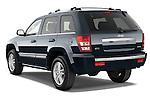 Rear three quarter view of a 2009 Jeep Grand Cherokee 5 Door