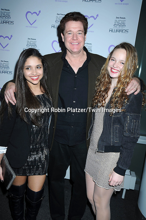 Gabrielle Teitelbaum and Kate and Michael O'Leary attending The 2nd Annual Indie Soap Awards on February 21, 2011 at The Alvin Ailey Studios in  New York City sponsored by We Love Soaps.