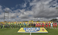 BOGOTÁ -COLOMBIA, 31-07-2016. Aspecto del encuentro entre La Equidad y Patriotas FC por la fecha 6 de la Liga Águila II 2016 jugado en el estadio Metropolitano de Techo de la ciudad de Bogotá./ Aspect of the match between La Equidad and Patriotas FC for the date 6 of the Aguila League I 2016 played at Metropolitano de Techo stadium in Bogotá city. Photo: VizzorImage/ Gabriel Aponte / Staff