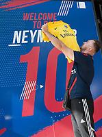 August 4 2017, Paris, France - Great sale of Neymar's shirt at PSG shop on Avenue Champs Elysees. # VENTE DU MAILLOT DE NEYMAR A LA BOUTIQUE DU PSG