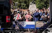 Italian champion Elia Viviani (ITA/Deceuninck-QuickStep) loved by the italians<br /> <br /> Stage 1 (ITT): Bologna to Bologna/San Luca (8.2km)<br /> 102nd Giro d'Italia 2019<br /> <br /> ©kramon