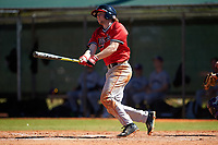 Illinois State Redbirds shortstop Owen Miller (8) at bat during a game against the Northwestern Wildcats on March 6, 2016 at North Charlotte Regional Park in Port Charlotte, Florida.  Illinois State defeated Northwestern 10-4.  (Mike Janes/Four Seam Images)