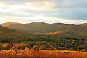 Late light warms the autumn landscape at the Society for the Protection of New Hampshires Forests' Morse Preserve.