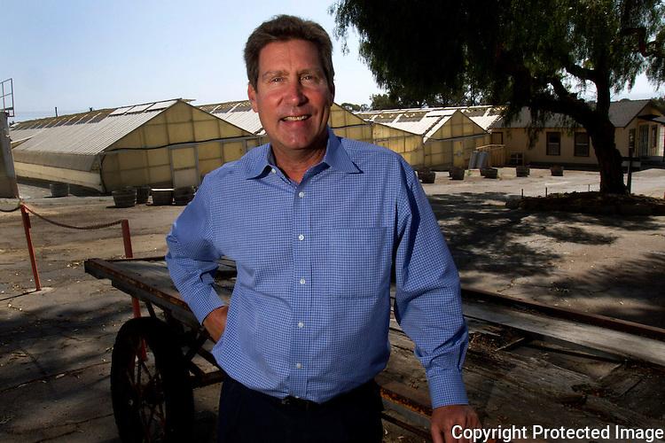 Paul Ecke III, former Encinitas poinsettia grower at his Encinitas, California property in April of 2013. photo for U-T San Diego