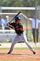 Miami Marlins Yefri Perez (12) during a minor league spring training game against the New York Mets on March 30, 2015 at the Roger Dean Complex in Jupiter, Florida.  (Mike Janes/Four Seam Images)