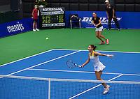 21-12-13,Netherlands, Rotterdam,  Topsportcentrum, Tennis Masters, Lady's double final Danielle Harmsen and Olga Kalyuzhnaya(NED)<br /> Photo: Henk Koster