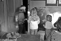 Art room, Summerhill school, Leiston, Suffolk, UK. 1968.