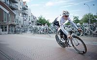Kristof Vandewalle (BEL/Trek Factory Racing) at prologue recon<br /> <br /> stage 1: prologue<br /> Ster ZLM Tour 2015