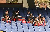 CALI - COLOMBIA, 24-07-2021: América de Cali  Atlético Bucaramanga en partido por la fecha 4 como parte de la Liga Femenina BetPlay DIMAYOR 2021 jugado en el estadio Pascual Guerrero de la ciudad de Cali. / America de Cali and Atletico Bucaramanga in match for the date 4 as part of Women's BetPlay DIMAYOR 2021 League played at Pascual Guerrero stadium in Cali. Photo: VizzorImage / Gabriel Aponte / Staff