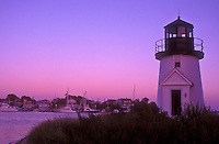 AJ1514, lighthouse, Cape Cod, Massachusetts, Lewis Bay Lighthouse at Inner Harbor in Hyannis along the Atlantic Coast, Massachusetts at [sunset, sunrise].