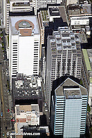 aerial photograph 333 Bush Street San Francisco California and adjacent office towers