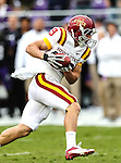 Iowa State Cyclones wide receiver Josh Lenz (19) in action during the game between the Iowa State Cyclones and the TCU Horned Frogs  at the Amon G. Carter Stadium in Fort Worth, Texas. Iowa State defeats TCU 37 to 23.