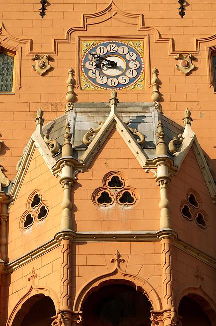 Art Nouveau (Sezession) City Hall designed by Lechner Ödön with Zolnay tiles, Hungary Kecskemét