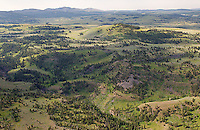 Yellowstone's Blacktail Plateau, photographed during a summer aerial shoot.