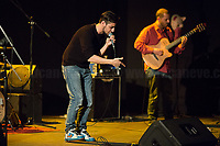 """Lucio Leoni - https://www.facebook.com/baraccaeburattini<br /> <br /> Rome, 14/04/2018. Today, the """"Nuovo Cinema Palazzo"""", to celebrate the 7th anniversary of its occupation, held a concert with various bands, including """"Nosenzo"""" (Alessandro Nosenzo: lead singer, songwriter, guitar; Giulia Anita Bari: violin; Renato Gattone: contrabass / double bass - https://www.renatogattone.net/; Nicolò Di Caro: Drums; <<Mediterranean Sound and Gypsy Heart, Nosenzo embraces different styles and historical periods for his music, looks to the East and embraces the earth. His music is a mixture of cultures and gives way to dances watching the world as a beautiful playground […]>>). From the organiser website: <<On the 15 April 2011, citizens, movements, workers of the entertainment industry reopened the former """"Palazzo Cinema"""" to prevent the opening of a casino. The project, which was without authorization and strongly illegitimate, would have involved the San Lorenzo's area and its urban and social community. It was against the 'construction' of gambling and the rampant speculation from which the project of the Nuovo Cinema Palazzo was born, now that is the place of the 'possible' in which art, culture and politics constantly take shape and content. [...] Where decisions are made focusing on the relationship and the meeting between people there is always an open place for exchange, discussion and sharing. Every moment in which it is decided to resist opens a different horizon capable of creating a cultural, political and social space accessible to everyone. Every form of material and immaterial work which is practised is the collective will that gives back  quality as well as quantity, at the same time enhancing aesthetics and beauty [...] >>.<br /> <br /> For more info please click here: http://www.nuovocinemapalazzo.it/ & https://bit.ly/2H0QBqb<br /> <br /> For More info about Nosenzo please click here: https://bit.ly/2H0nOSM & https://bit.ly/1IFlc6P & https://bit.ly/2qztM1T & ht"""