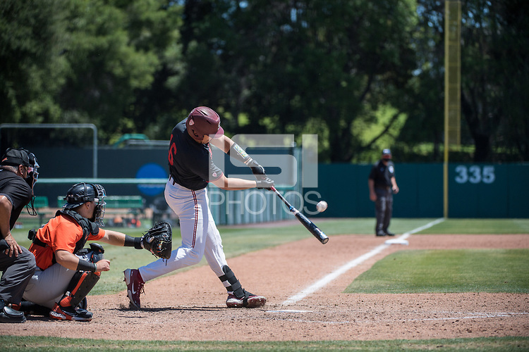 STANFORD, CA - MAY 29: Vincent Martinez during a game between Oregon State University and Stanford Baseball at Sunken Diamond on May 29, 2021 in Stanford, California.