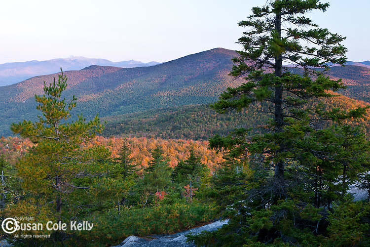 The view from the Black Cap Trail in the Green Hills (Nature Conservancy) Preserve in Conway, NH, USA